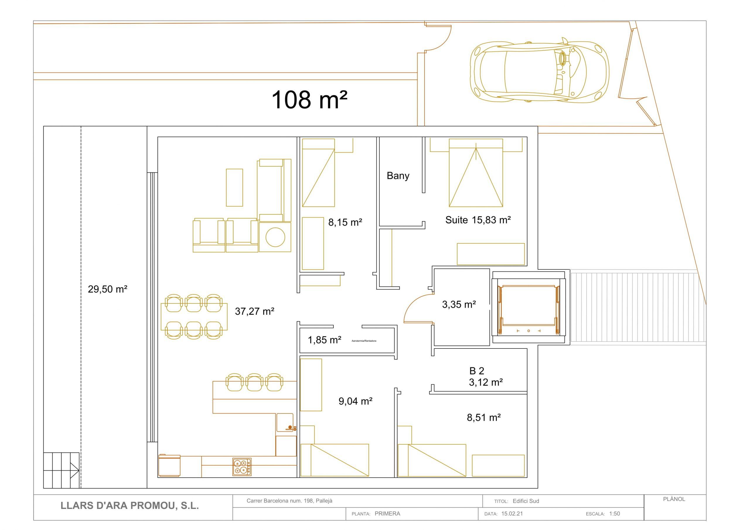 Palleja 335 Obra nueva planta 1 de 108 m2 en Palleja