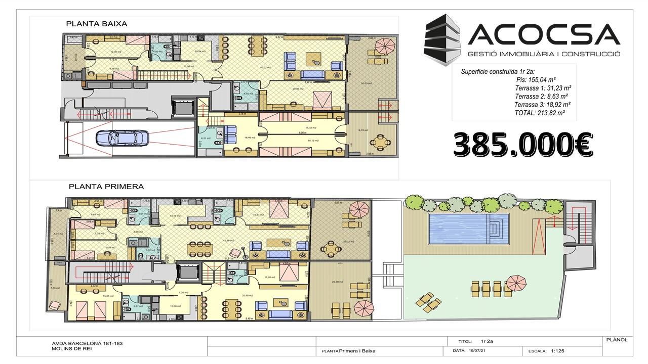 Molins de Rei-024 Dúplex de 213 m2 de obra nueva con terrazas y piscina