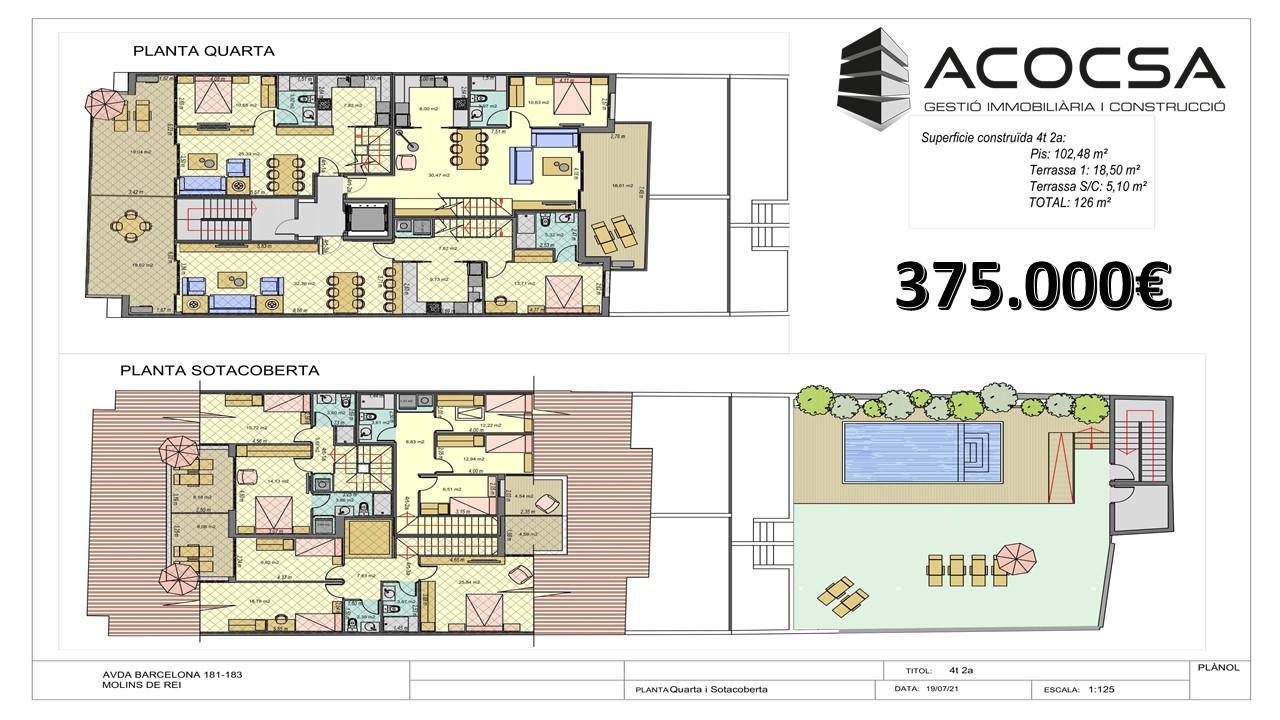 Molins de Rei-030 Obra nueva piso tipo dúlpex con terraza y piscina